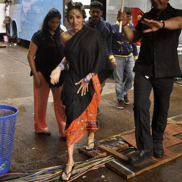 Malaika Arora Khan spotted at Mehboob Studios, Mumbai, on July 10, 2014.(Pic: Viral Bhayani)