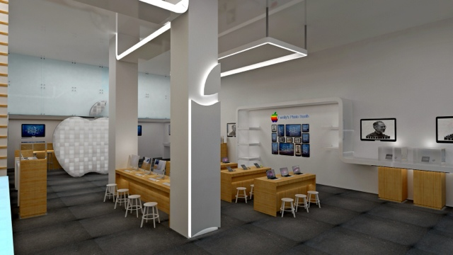 Apple retail store design by designer. Doaa Ahmed | D for Design