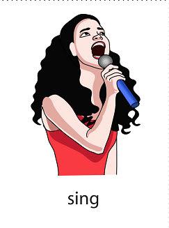 sing%2520 %2520flashcard Verb flashcard