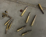 What do you find on the floor of a military gun range?  Drops of blood and shell casings