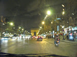 Driving down the Champs Elysees towards the Arc