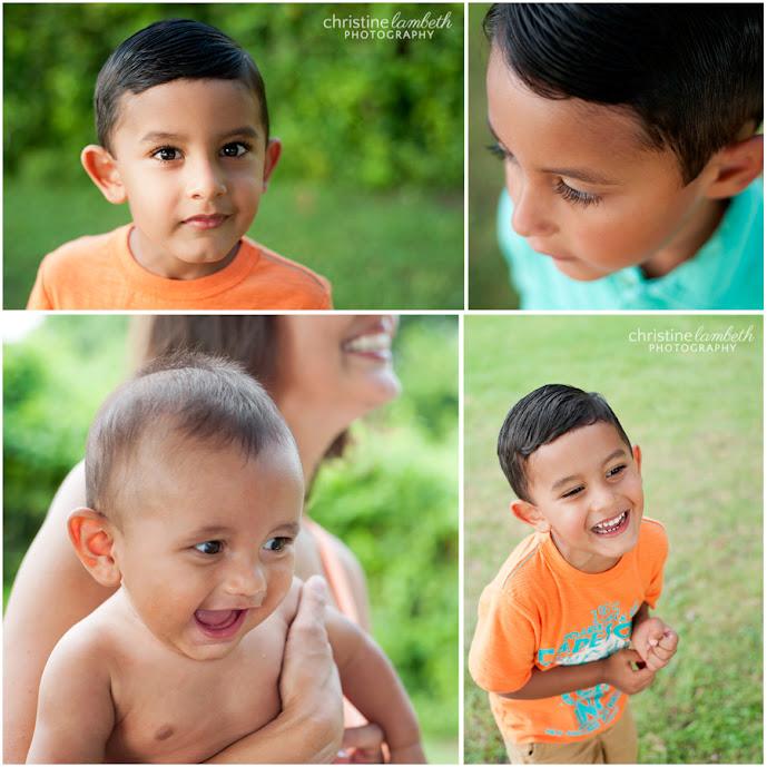 Three brothers portraits