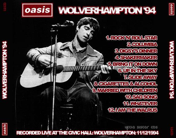 Oasis - Civic Hall, Wolverhampton, 11 December 1994 -SBD- (CD