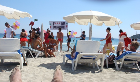Ibiza is a crazy party town where people chill in the day and party in the night
