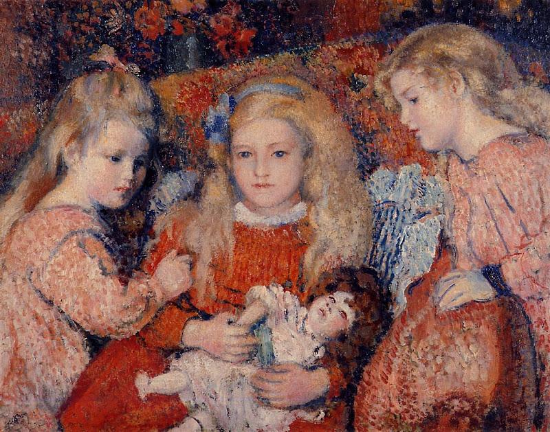 Georges Lemmen - Three Little Girls