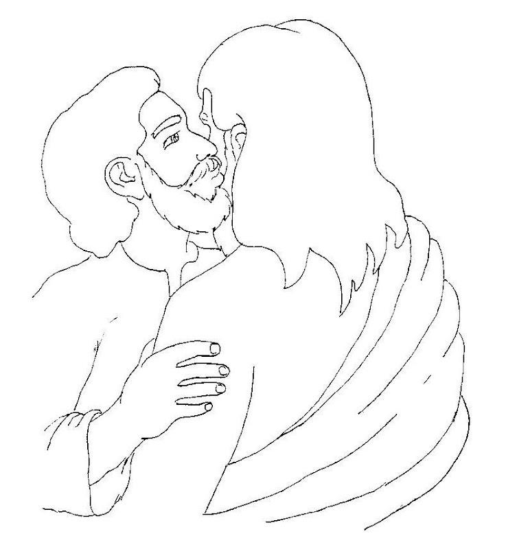 Beso de Judas para colorear