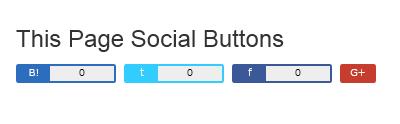 表示してるページのソーシャルボタンを表示する