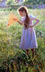 А. Аверин - Девочка с сачком