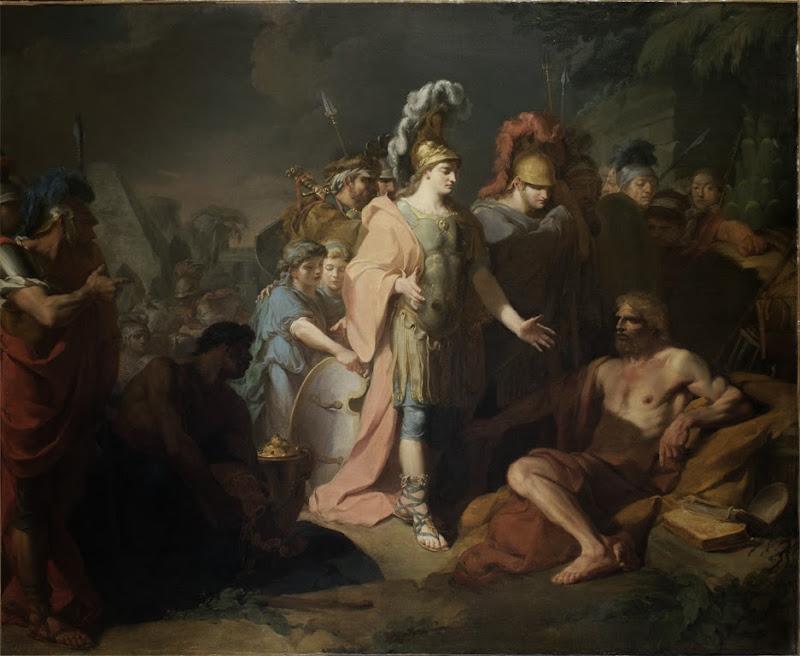 Jean-Baptiste Regnault - Alexandre et Diogene