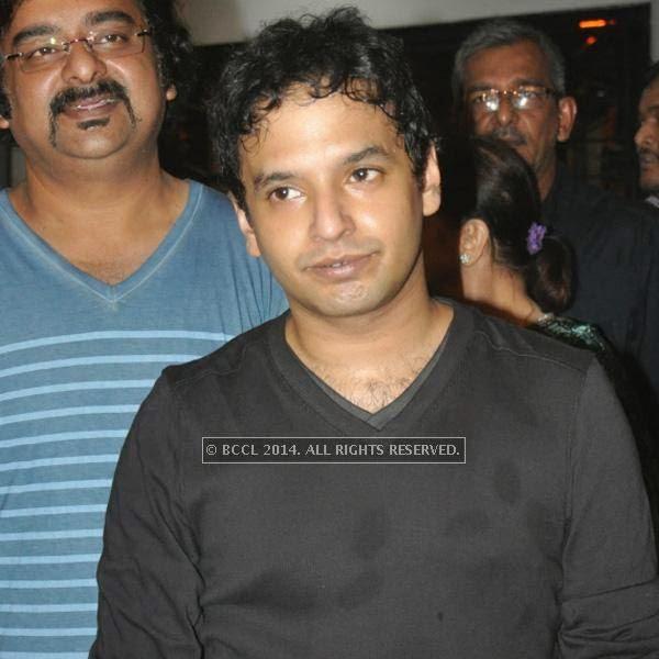 Mayookh Bhaumik during the premiere of Ranjan Ghosh's movie Hrid Majhare at Priya in Kolkata.