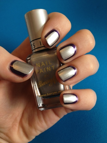 Barry M Silver Foil and Rimmel Pompous manicure