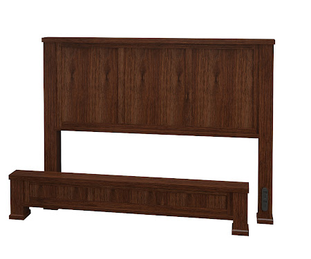 Aurora Platform Bed in Temperance Walnut