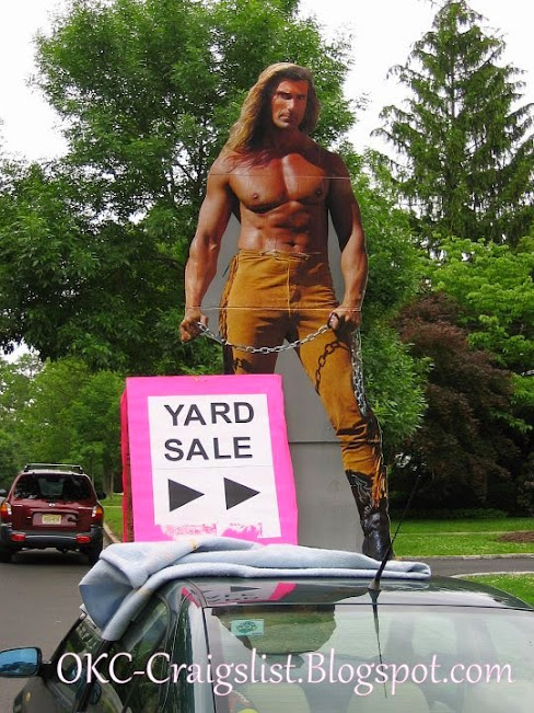 GARAGE SALE SIGN-OF-THE-WEEK: Fabio