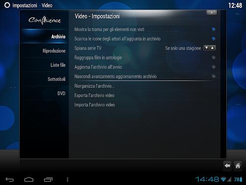 XBMC su Android - preferenze