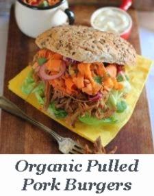 Organic Pulled Pork Burgers