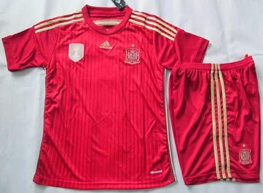 Jual Jersey Bola Anak Spanyol Piala Dunia 2014