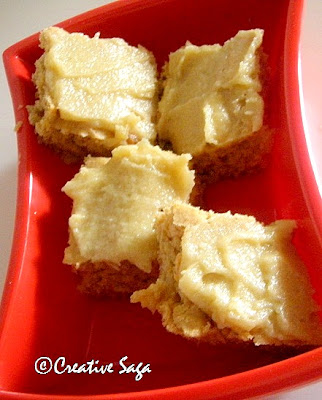 apple blondies with brown sugar frosting