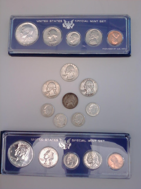 picture of silver coins and sets