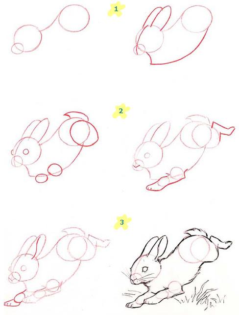 как нарисовать зайца поэтапно карандашом