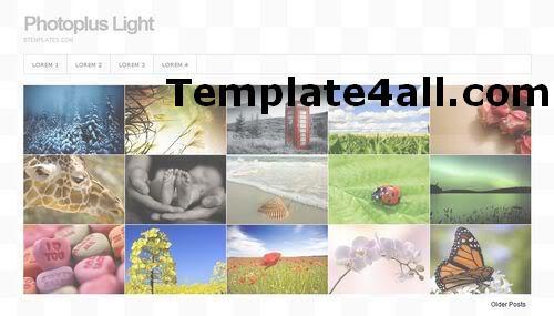'Free Blogger Photos Gallery Web2.0 Template