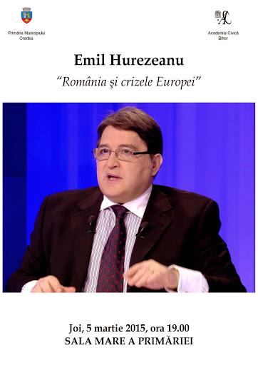 Conferinţă Emil Hurezeanu despre România şi crizele Europei, martie 2015 #1