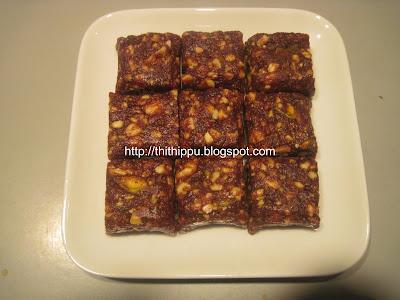 Anjir Burfi ismade up of fig and sugar