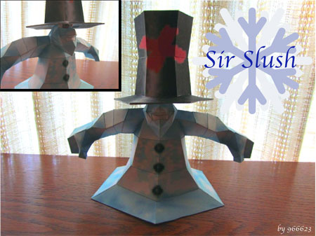 Sir Slush the Snowman Papercraft
