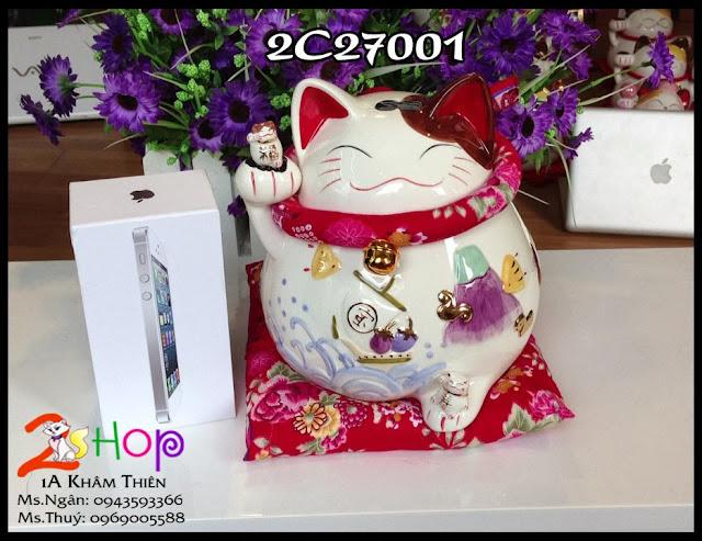 Mèo may mắn, Mèo thần tài MANEKI NEKO và các đồ trang trí, quà tặng siêu đẹp Voi, Cá, Ngựa