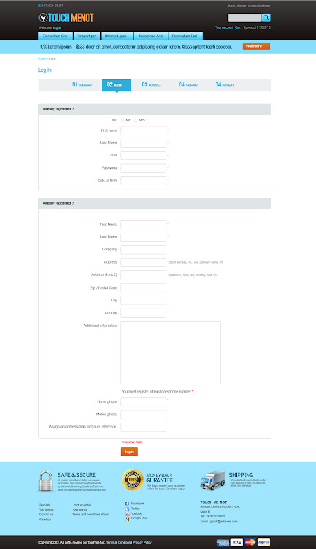Form Page - Prestashop Mobile Template