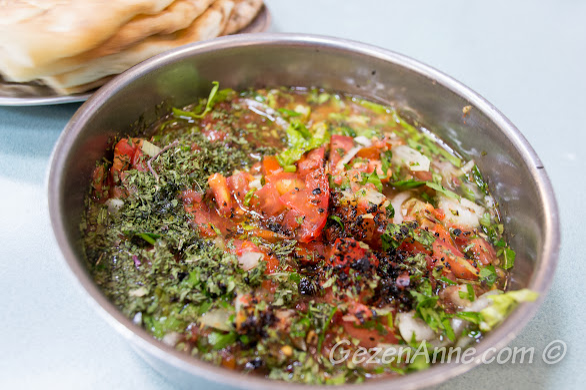 Gaziantep Kebapçı Halil Usta'da acılı kaşık salatası