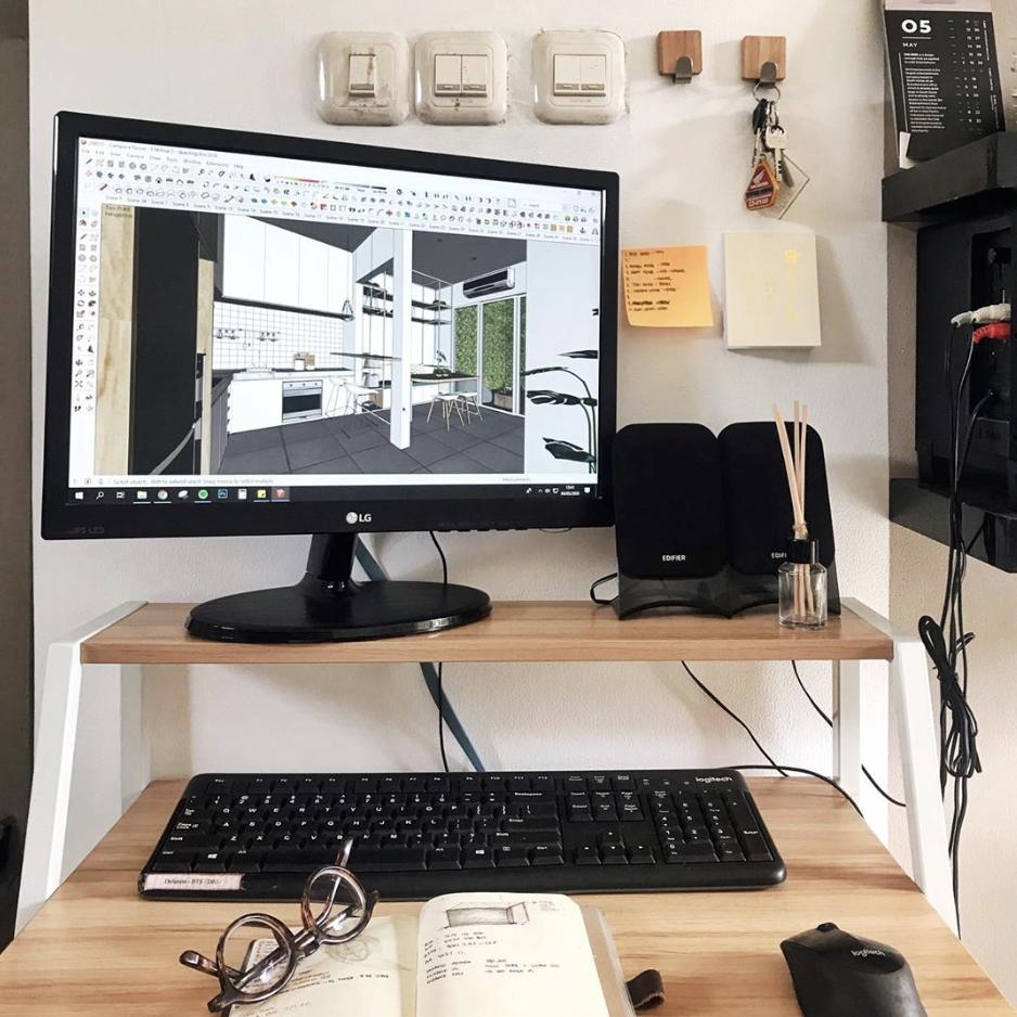 Inspirasi dekorasi area atau ruang kerja - source: instagram.com/yosoahendra/