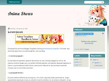 "Anime Shows ""Plantilla de Anime para Blogger"""
