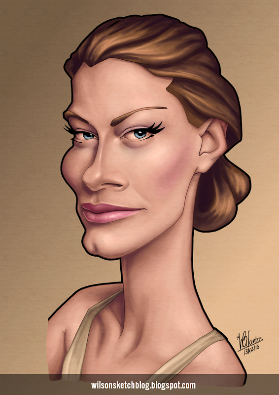 Caricature of Alyssa Sutherland.