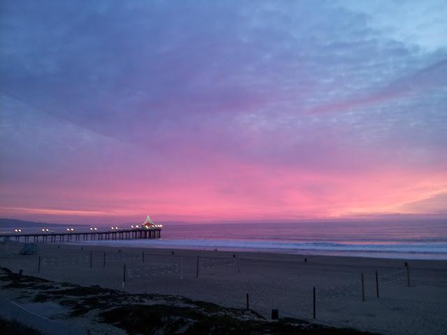 Dusk to Twilight at Manhattan Beach