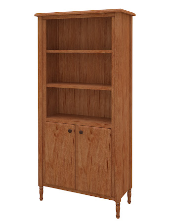 Farmhouse Wooden Door Bookshelf in Vermont Maple