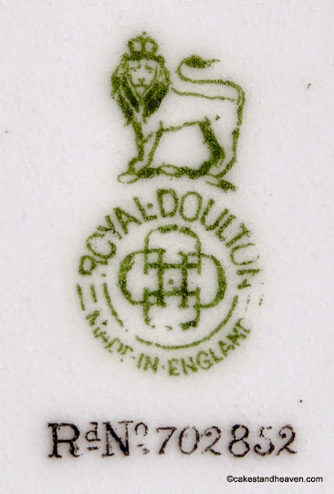 Royal Doulton back stamp reg. no 702852