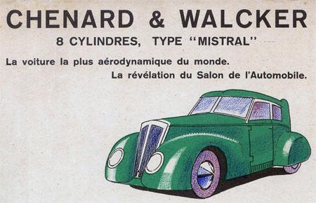 Chenard Walcker Papercraft Mistral