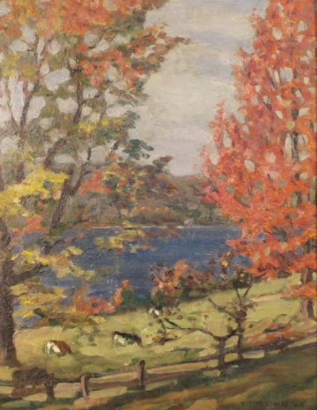 Victor Charreton - Riverside Pasture
