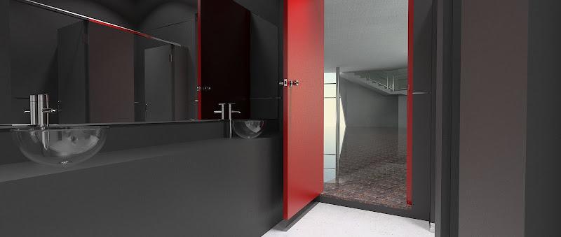 ห้องน้ำคับๆ กับการเรนเดอร์แบบบ้านๆ ของ Art Gallery ที่พัทยา Restroom01