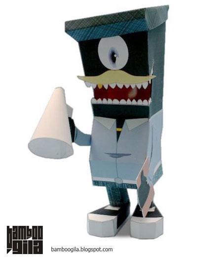 Zecke Paper Toy