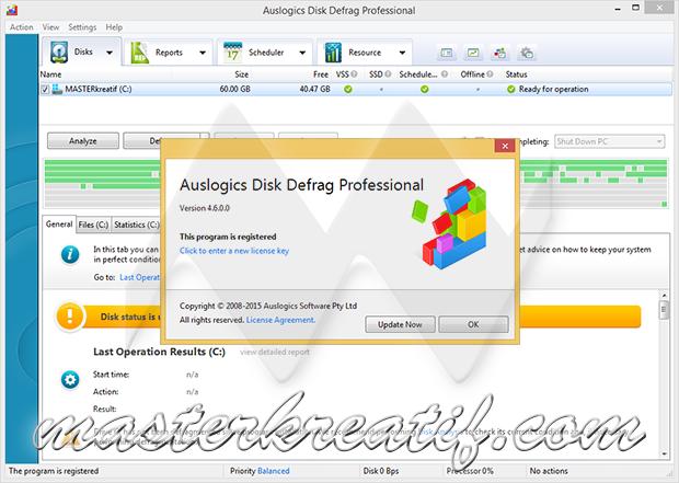 Auslogics Disk Defrag Pro 4.6.0.0
