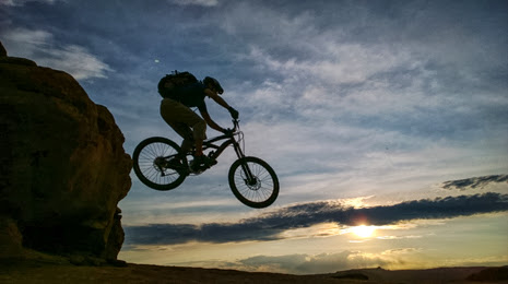 Riding Moab's slick rock bicycle trail