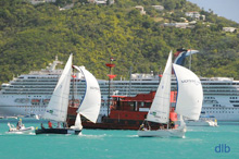 sailboats sailing Carlos Aguilar match race- St thomas, Virgin Islands
