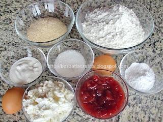 Coltunasi cu branza dulce si gem ingrediente reteta