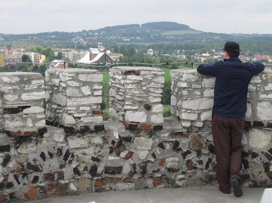 zamek będzin widok z wieży zamkowej