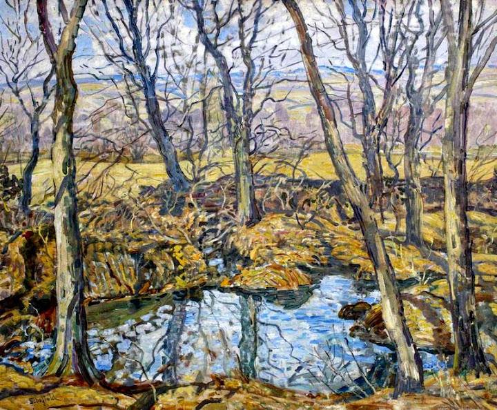 Walter Elmer Schofield - Godolphin Pond in Autumn