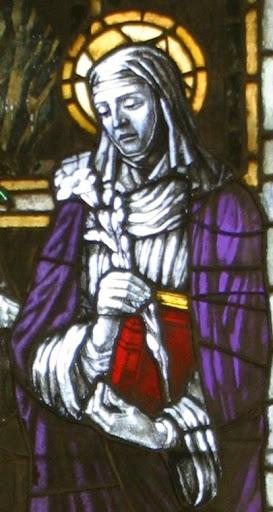Vetrata santa Caterina, particolare