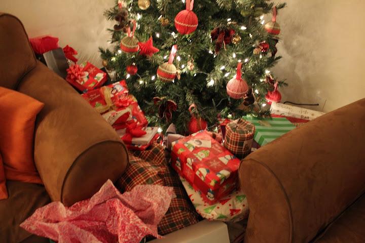 arbol de navidad, regalos