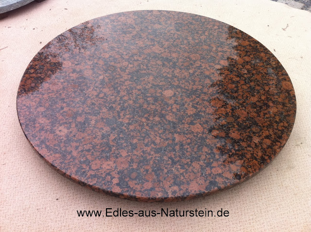 runde naturstein couchtischplatte 120cm tischplatte marmor granit braun rot ebay. Black Bedroom Furniture Sets. Home Design Ideas