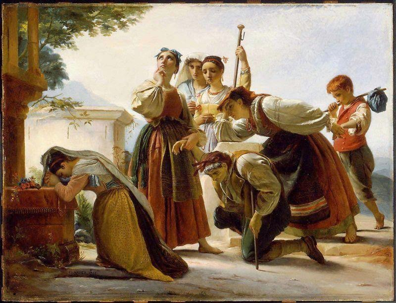 François-Joseph Navez - Pilgrimage in the Roman Campagna